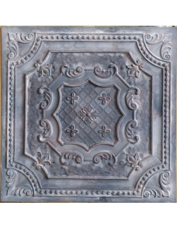 Tin ceiling tiles embossed cafe club old wood gray wall panel PL04 pack of 10pcs