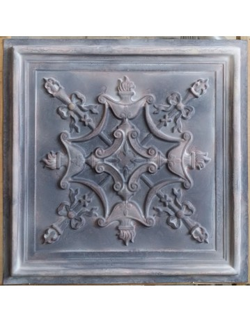 Tin ceiling tiles embossed cafe club old wood gray wall panel PL07 pack of 10pcs