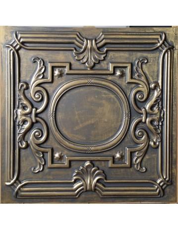 Faux Tin ceiling tiles ancient gold color PL15 pack of 10pcs