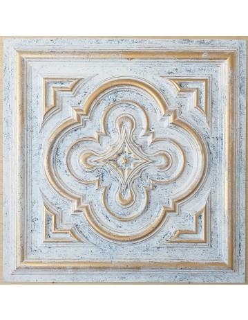 ceiling tiles 2x2 Faux tin paint aged white gold color PL36 pack of 10pcs