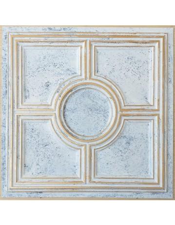 ceiling tiles 2x2 Faux tin paint aged white gold color PL37 pack of 10pcs