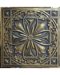 Ancient gold Tin Ceiling tiles 3D cafe nighclub ceiling panels faux finishes PL10 pack of 10pcs