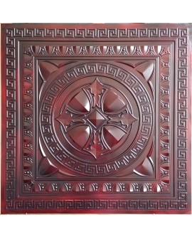 Faux Tin ceiling tiles aged red wood color PL01 pack of 10pcs