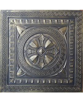 Faux Tin ceiling tiles ancient gold gray color PL01 pack of 10pcs