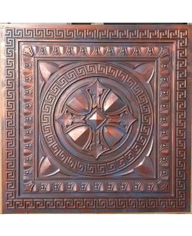 Faux Tin ceiling tiles Rustic copper color PL01 pack of 10pcs