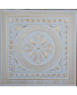 Faux Tin ceiling tiles white gold color PL01 pack of 10pcs