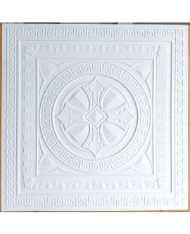 Faux Tin ceiling tiles white matt  color PL01 pack of 10pcs