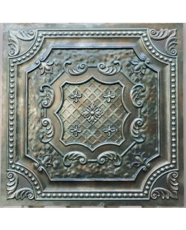 Faux Tin ceiling tiles aged copper patina color PL04 pack of 10pcs