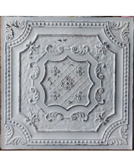 Ceiling tiles False Tin distressed crack white black color PL04 pack of 10pcs
