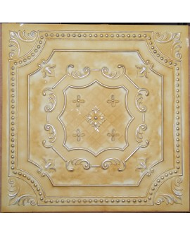 Old ceiling tiles Faux tin paint yellow gold color PL04 pack of 10pcs