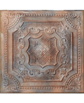 ceiling tiles Faux tin finished washed brown color PL04 pack of 10pcs