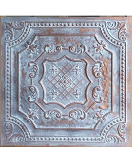 Ceiling tiles Faux Tin painted weathering copper color PL04 pack of 10pc