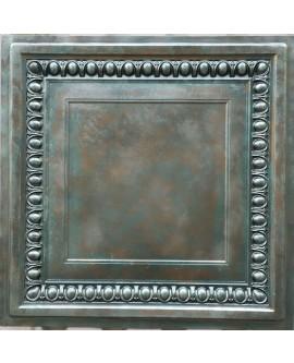 Plastic Ceiling tiles Faux tin copper patina color PL06 10pcs/lot