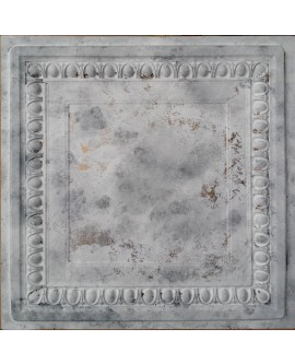 Faux Tin ceiling tiles distress white gray color PL06 pack of 10pcs