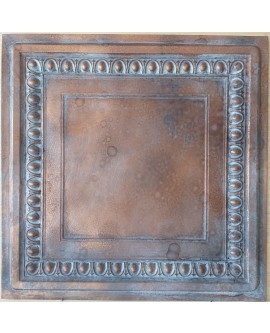 Ceiling tiles Faux Tin painted weathering copper color PL06 pack of 10pc