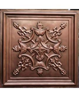 Faux Tin ceiling tiles antique red copper color PL07 pack of 10pcs