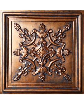 Faux Tin ceiling tiles archaic copper color PL07 pack of 10pcs
