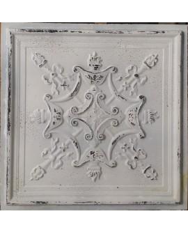 Ceiling tiles Faux Tin distress crack white black color PL07 pack of 10pcs