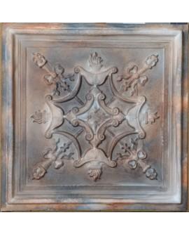 Plastic Ceiling tiles Faux tin washed brown color PL07 10pcs/lot