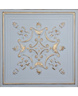 Faux Tin ceiling tiles white gold color PL07 pack of 10pcs