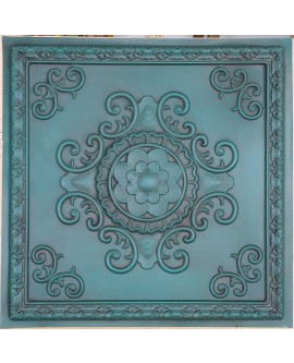 Faux Tin ceiling tiles Antique green color PL08 pack of 10pcs