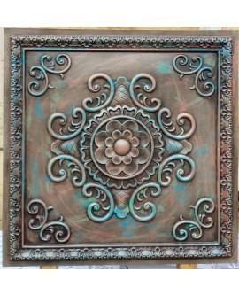 Faux Tin ceiling tiles antique multicolored color PL08 pack of 10pcs