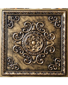 Faux Tin ceiling tiles archaic copper color PL08 pack of 10pcs