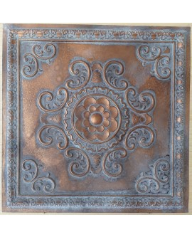 Ceiling tiles Faux Tin vintage painted weathering copper color PL08 10pc/lot