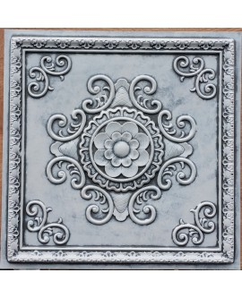 Faux Tin ceiling tiles weathering black white color PL08 pack of 10pcs