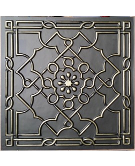 Faux Tin ceiling tiles Classic aged bronze color PL09 pack of 10pcs