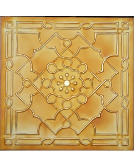 Old ceiling tiles Faux tin paint yellow gold color PL09 pack of 10pcs