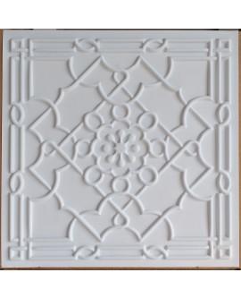 Faux Tin ceiling tiles white matt color PL09 pack of 10pcs