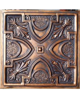 Faux Tin ceiling tiles Archaic copper color PL11 pack of 10pcs