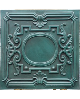 Faux Tin ceiling tiles Antique cyan color PL15 pack of 10pcs