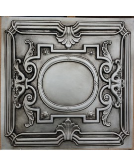 Faux Tin ceiling tiles Antique silver color PL15 pack of 10pcs