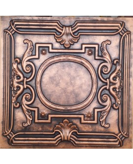 Faux Tin ceiling tiles archaic copper color PL15 pack of 10pcs