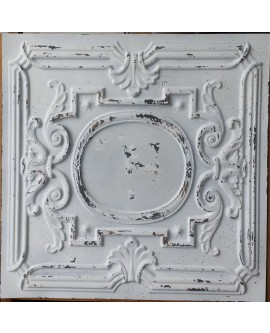 suspended Ceiling tiles Faux Tin distress crack white black color PL15 pack of 10pcs