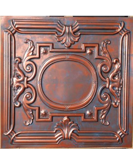 Faux Tin ceiling tiles Rustic copper color PL15 pack of 10pcs