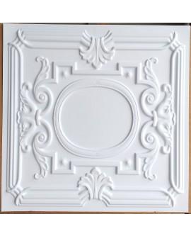 Faux Tin ceiling tiles white matt color PL15 pack of 10pcs