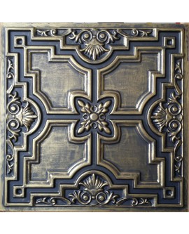Tin ceiling design ancient gold gray Faux painted PL16 pack of 10pcs