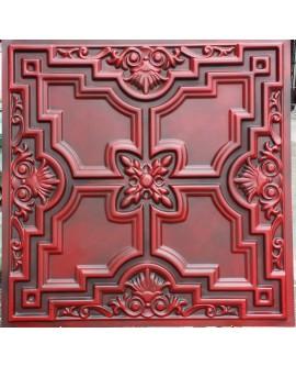 Faux Tin ceiling tiles antique red  PL16 pack of 10pcs