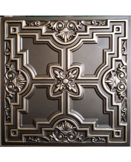 Faux Tin ceiling tiles classic aged brass PL16 pack of 10pcs