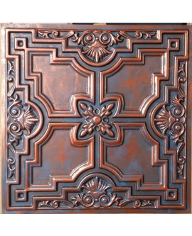 Faux Tin ceiling tiles Rustic copper color PL16 pack of 10pcs