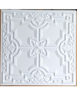 Faux Tin ceiling tiles white matt color PL16 pack of 10pcs