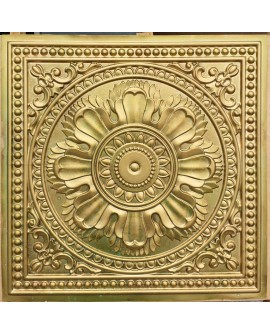 Faux Tin ceiling tiles aged brass color PL17 pack of 10pcs
