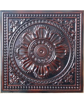 Faux Tin ceiling tiles aged red wood color PL17 pack of 10pcs