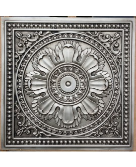 Faux Tin ceiling tiles antique silver color PL17 pack of 10pcs