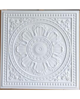Faux Tin ceiling tiles white matt color PL17 pack of 10pcs