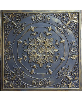 Faux Tin ceiling tiles ancient gold color PL18 pack of 10pcs