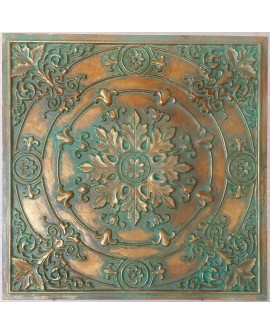 Ceiling tiles Faux painted vintage green gold color PL18 10pc/lot